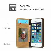 iPhone Canvas Wallet Case Cover